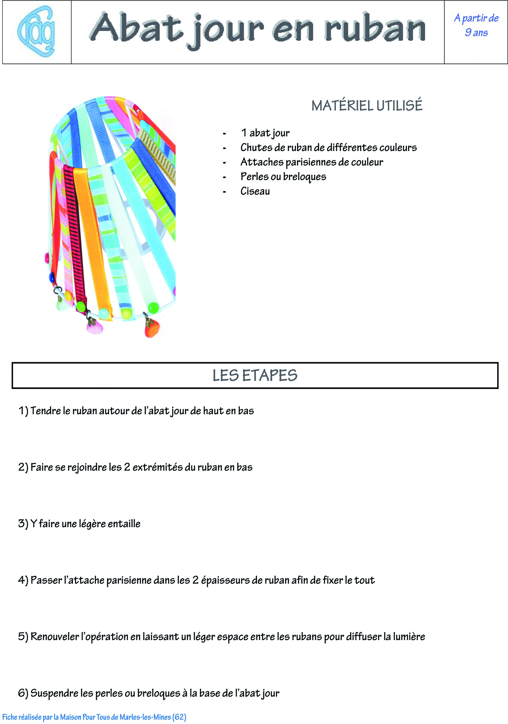 Souvent Activité Manuelle : Abat-jour – CFAG KE23
